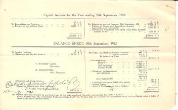Annual Report 1922 - 9